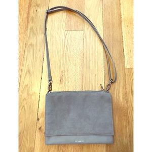 H&M leather suede cross body bag